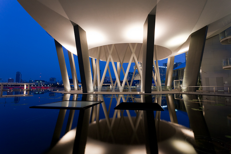 Pre-Dawn Images of Marina Bay Sands ArtScience Museum