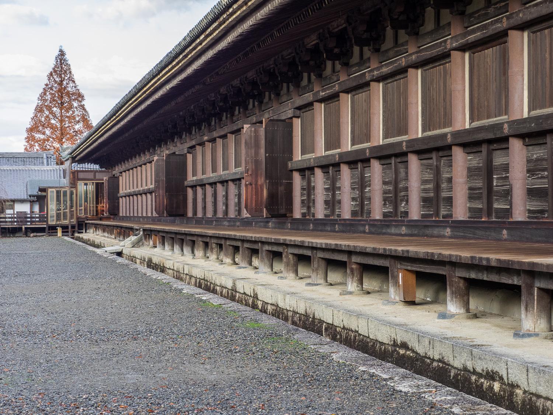 West side of inner temple of Sanjusangendo.