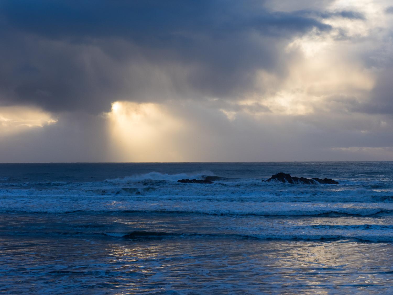 Sunset south of Cape Sebastian.