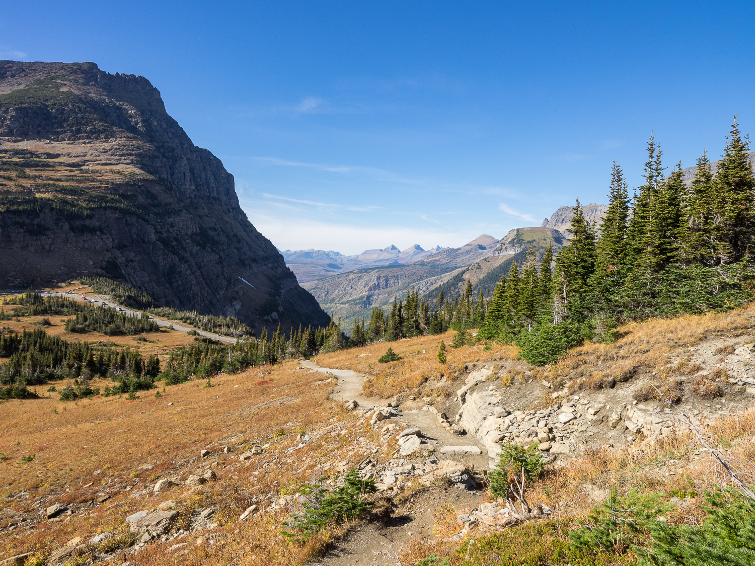 Logan Pass View to the West from Highline Trail.