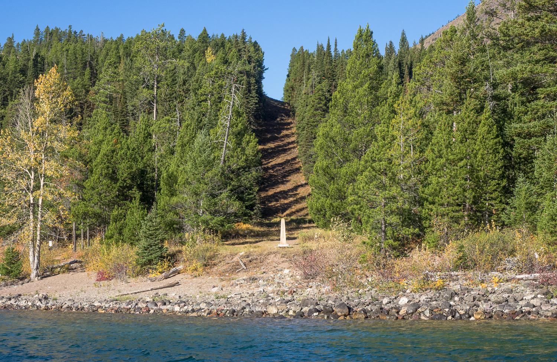 US-Canada border on Upper Waterton Lake (September 2015)