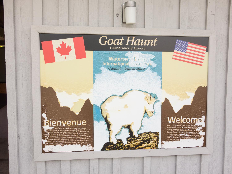 Goat Haunt signboard (June 2015)