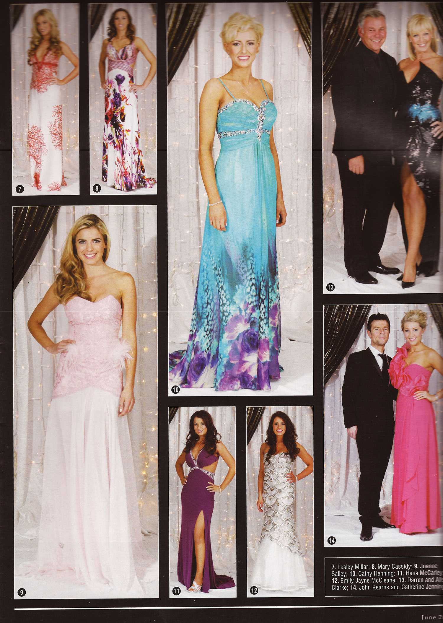 Joanne Salley at Miss NI 2012  wearing RUEDI pic 9 bottom left - IN! Magazine, June 2012