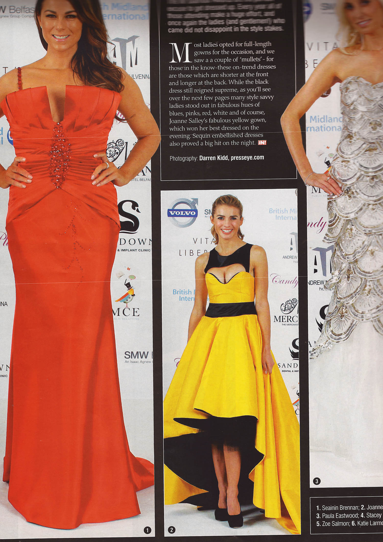 Joanne Salley IN Glamour Awards Best Dressed on the night wearing RUEDI yellow dress - IN! Magazine, Nov 2011