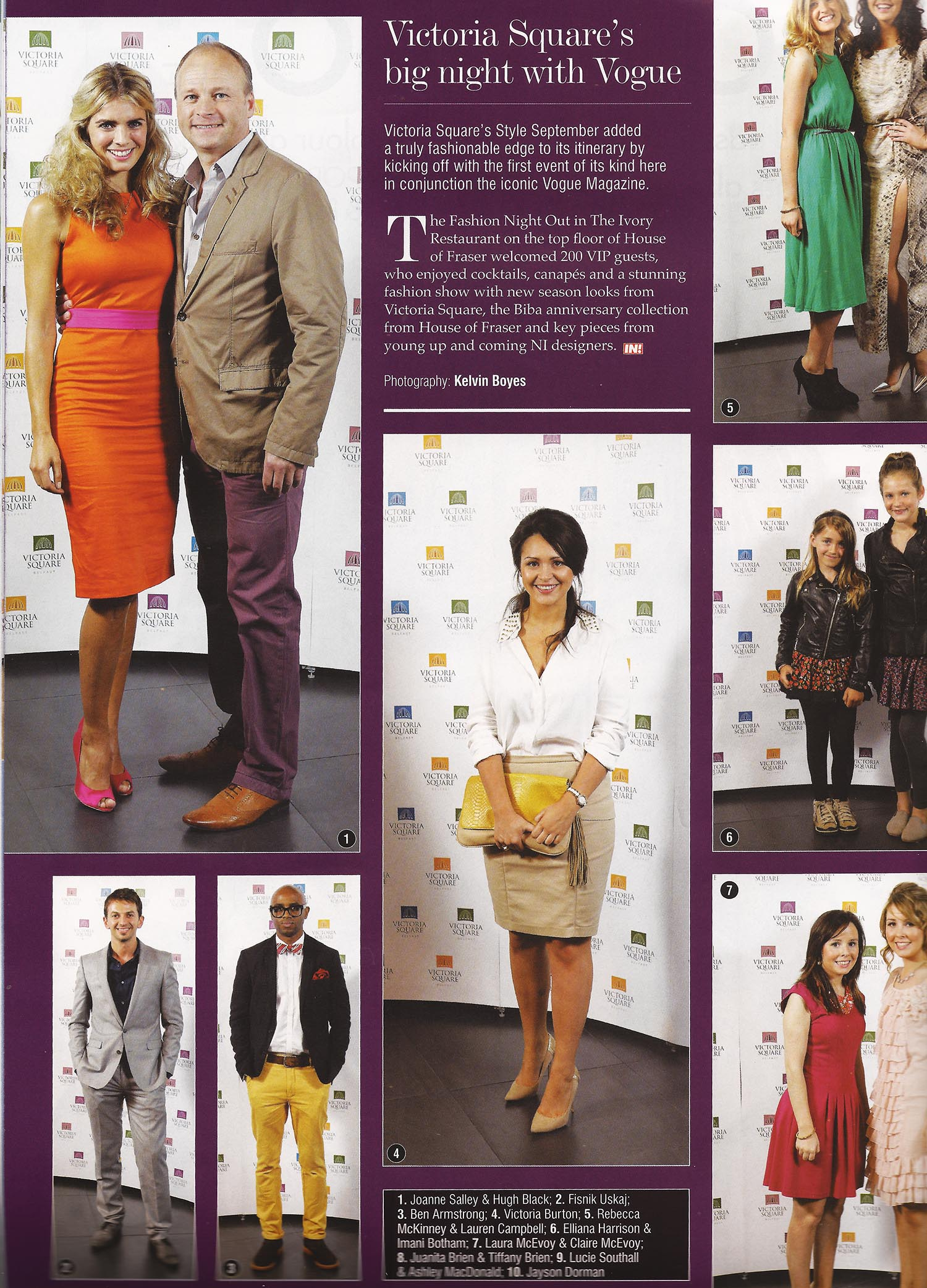 Joanne Salley Top Right wearing RUEDI - IN! Magazine, Vogue's fashion night out Oct 2012