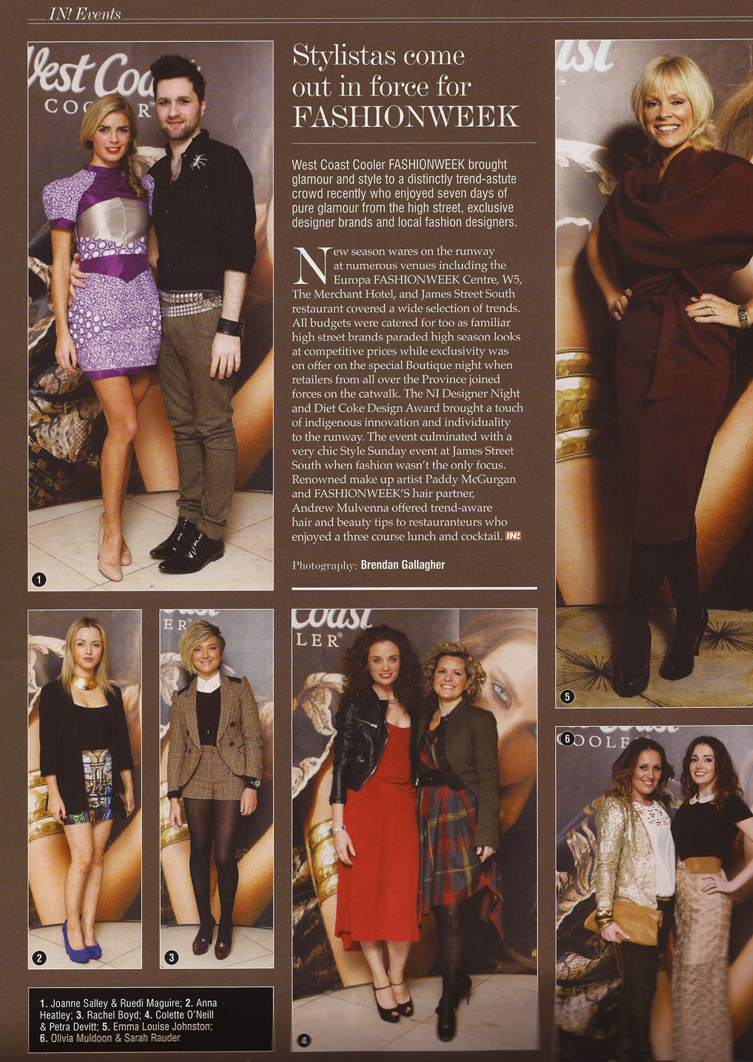 Joanne wearing RUEDI top right - IN! Magazine, Nov 2012