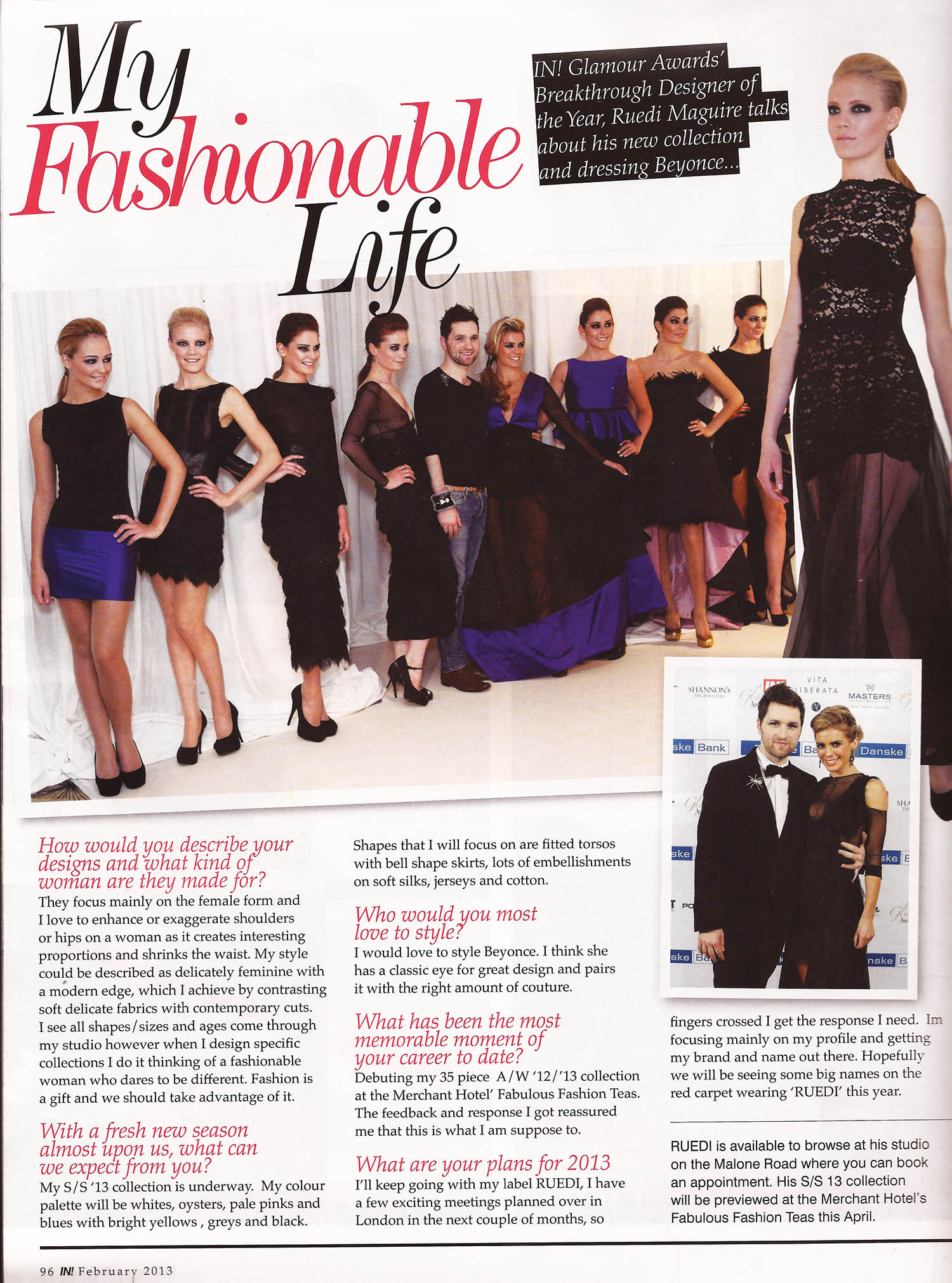 My Fashionable Life - IN! magazine Feb 2013