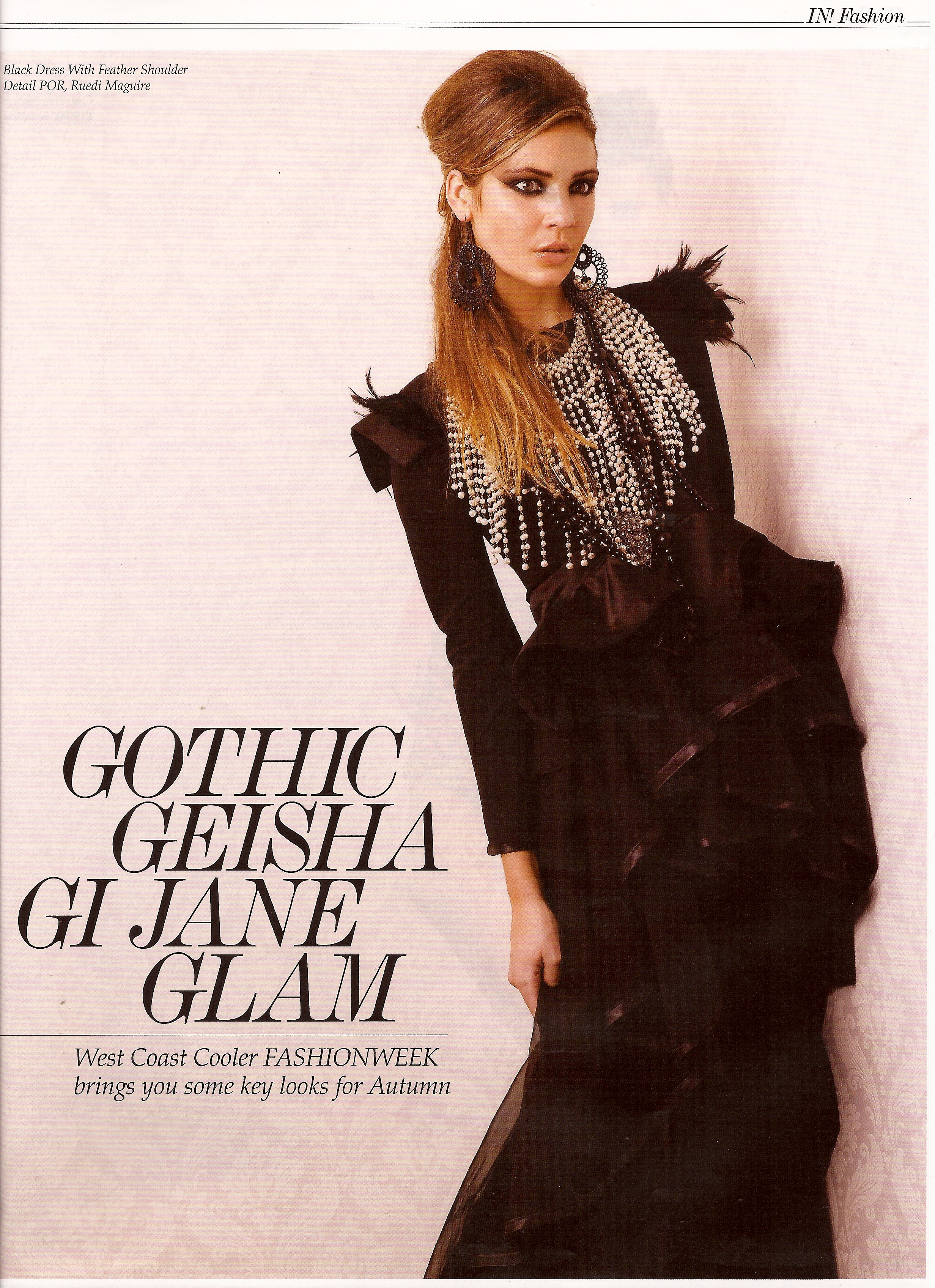 IN Magazine, Fashion Week Looks for Autumn 2012, Dress by RUEDI