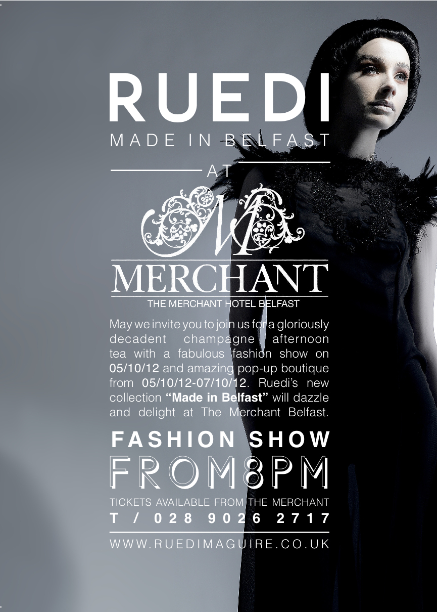 Autumn Winter Collection at the Merchant Hotel's Fabulous Fashion Teas.  5 October 2012