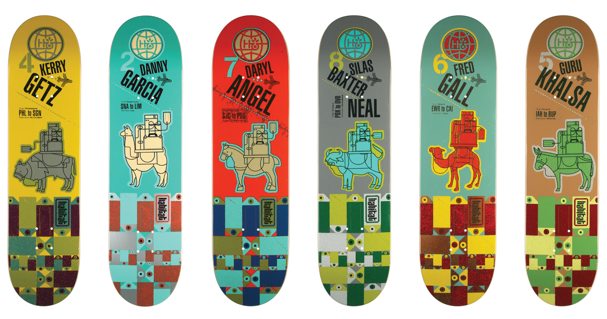 habitat skateboard decks