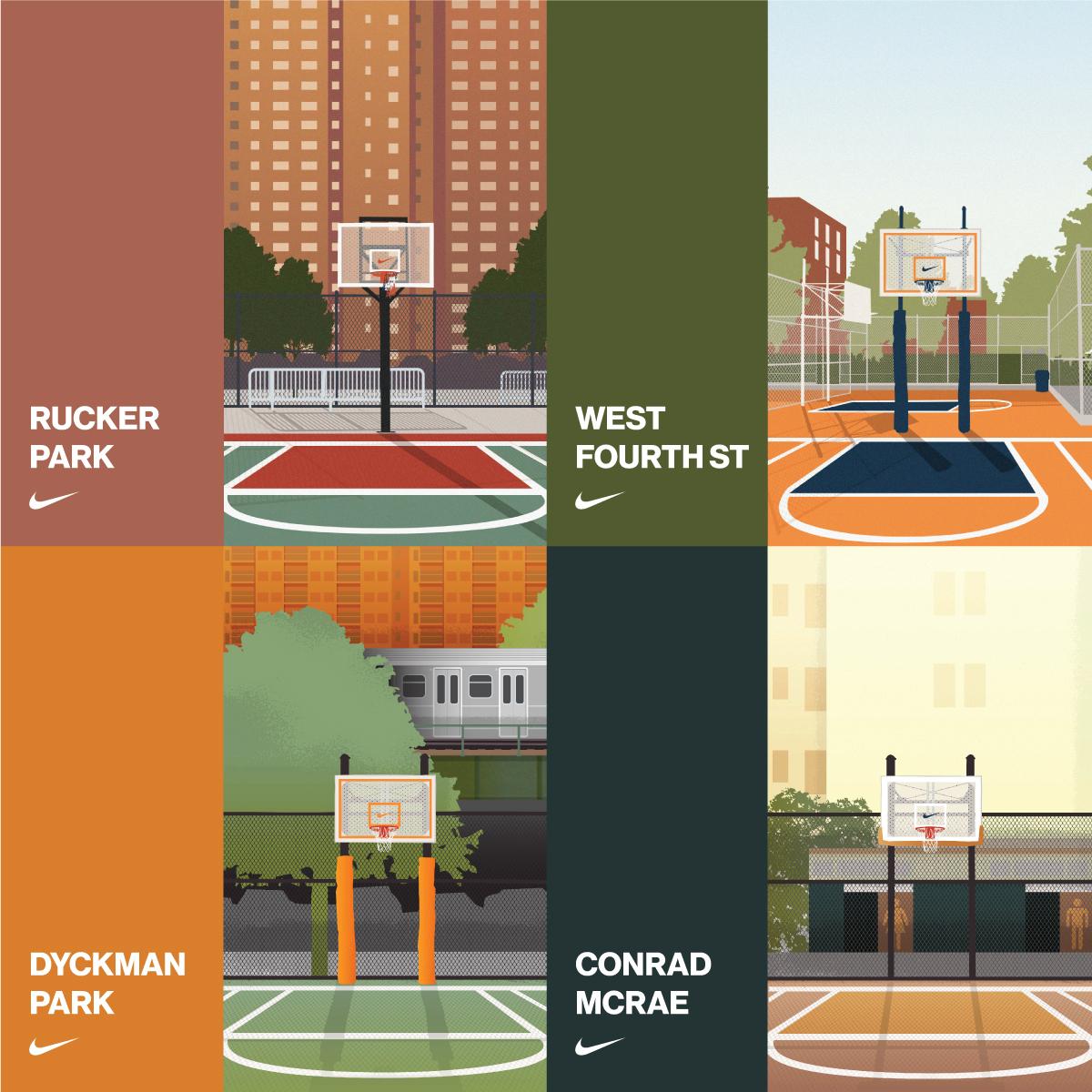 nike basketball nyc poster