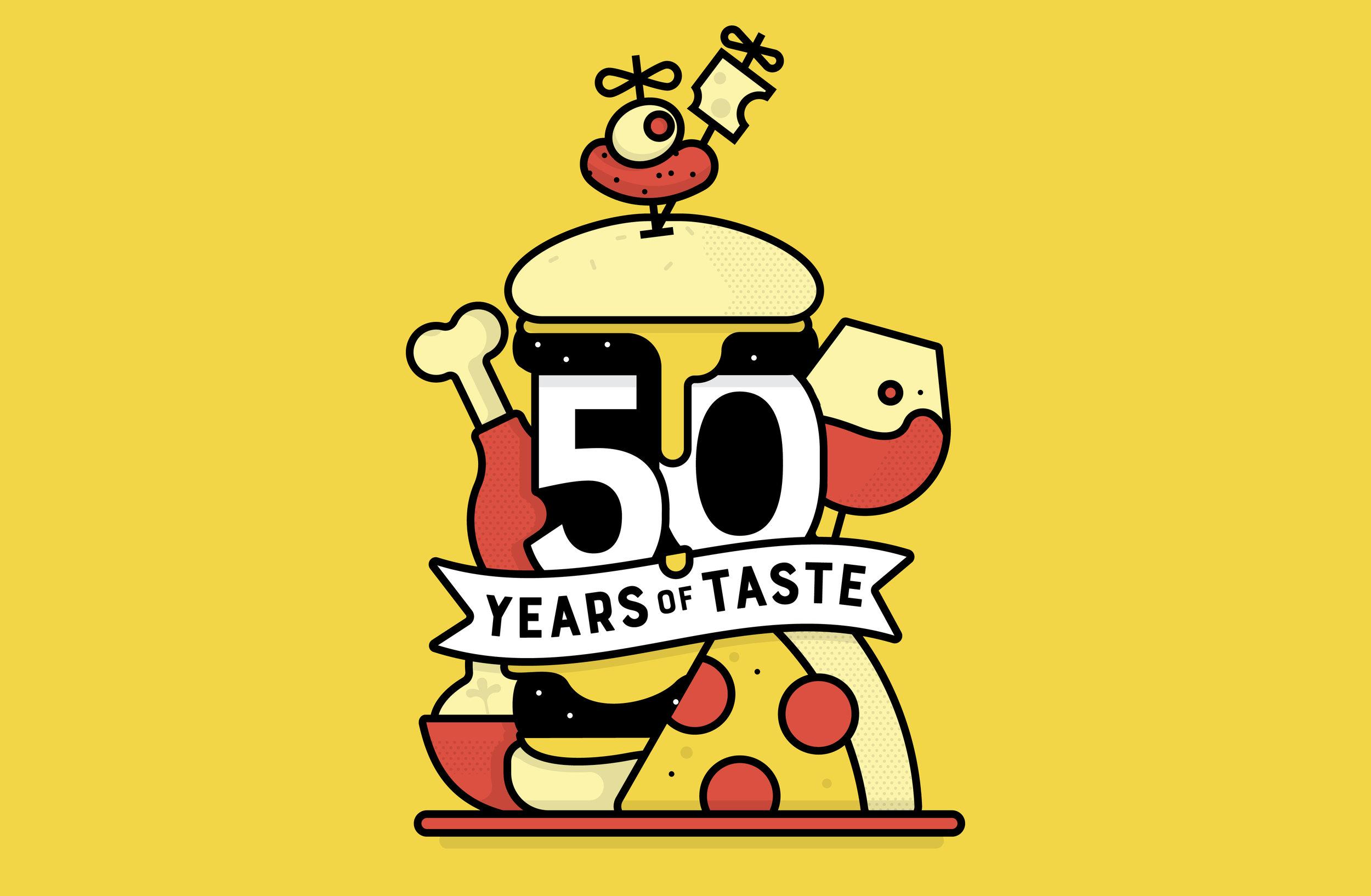 50 years of taste