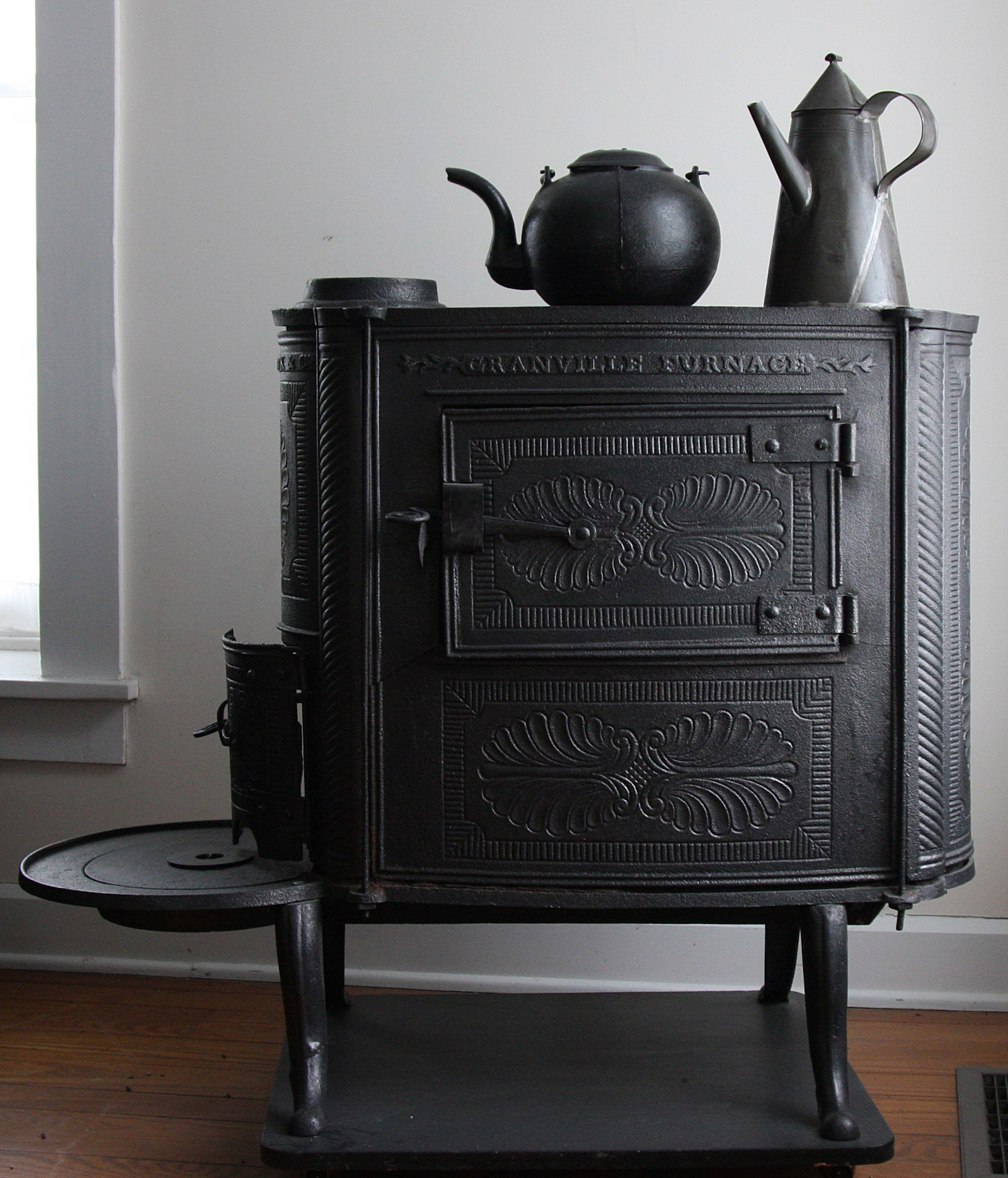 This stove, manufactured by the Granville Furnace in the 19th century, hints at Granville's unexpected past as an industrial town.  The stove is now housed in the Granville Historical Society museum.