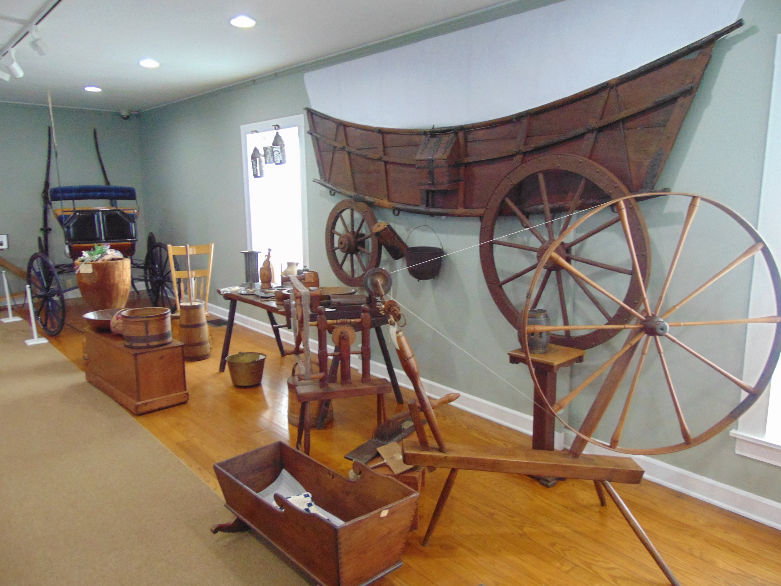 """We have new exhibits up at the museum, such as the """"Pioneer Collection."""""""
