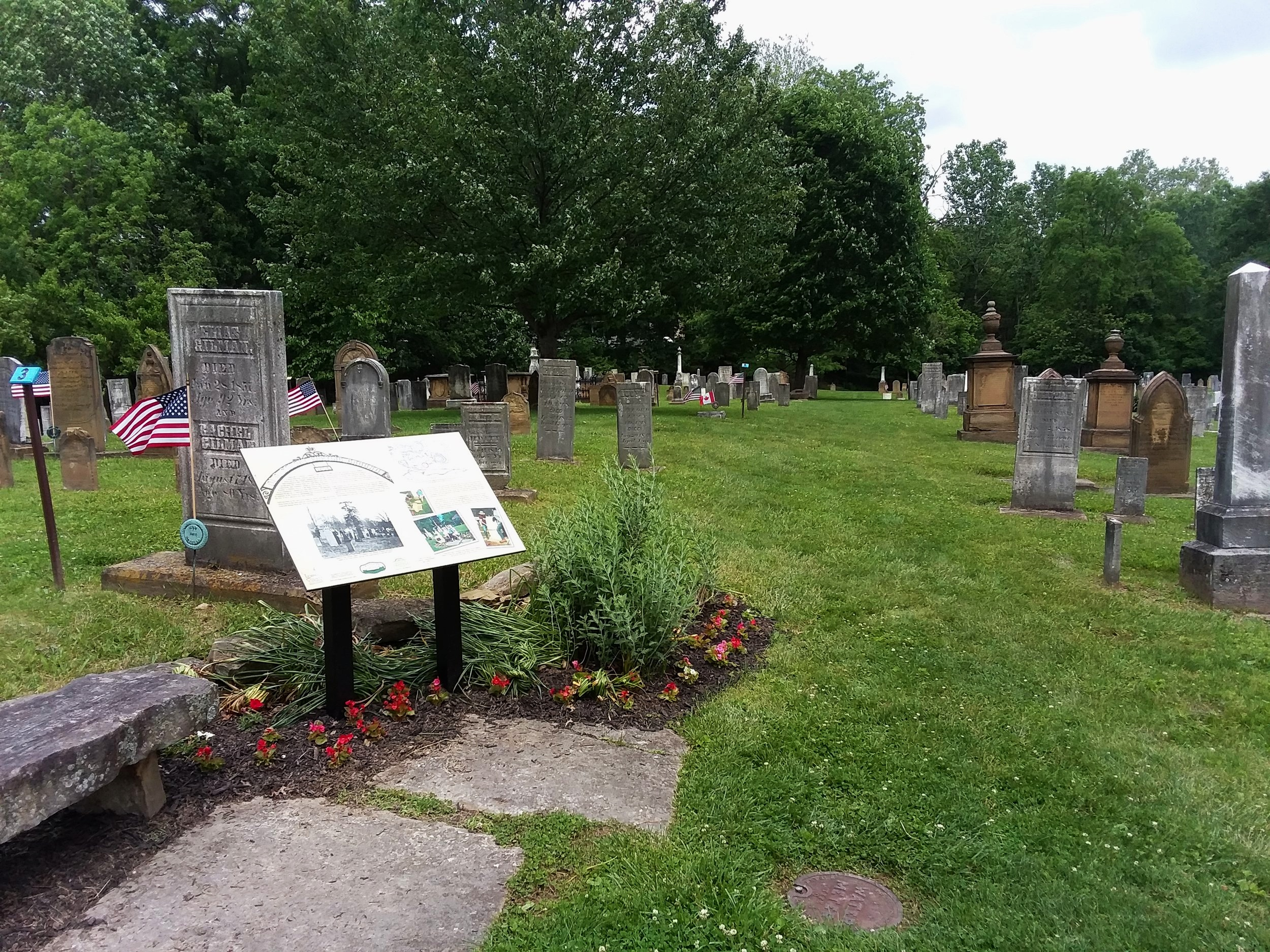 Tour the Old Colony Burying Ground on May 4: tours every half-hour from 2:00-3:30.