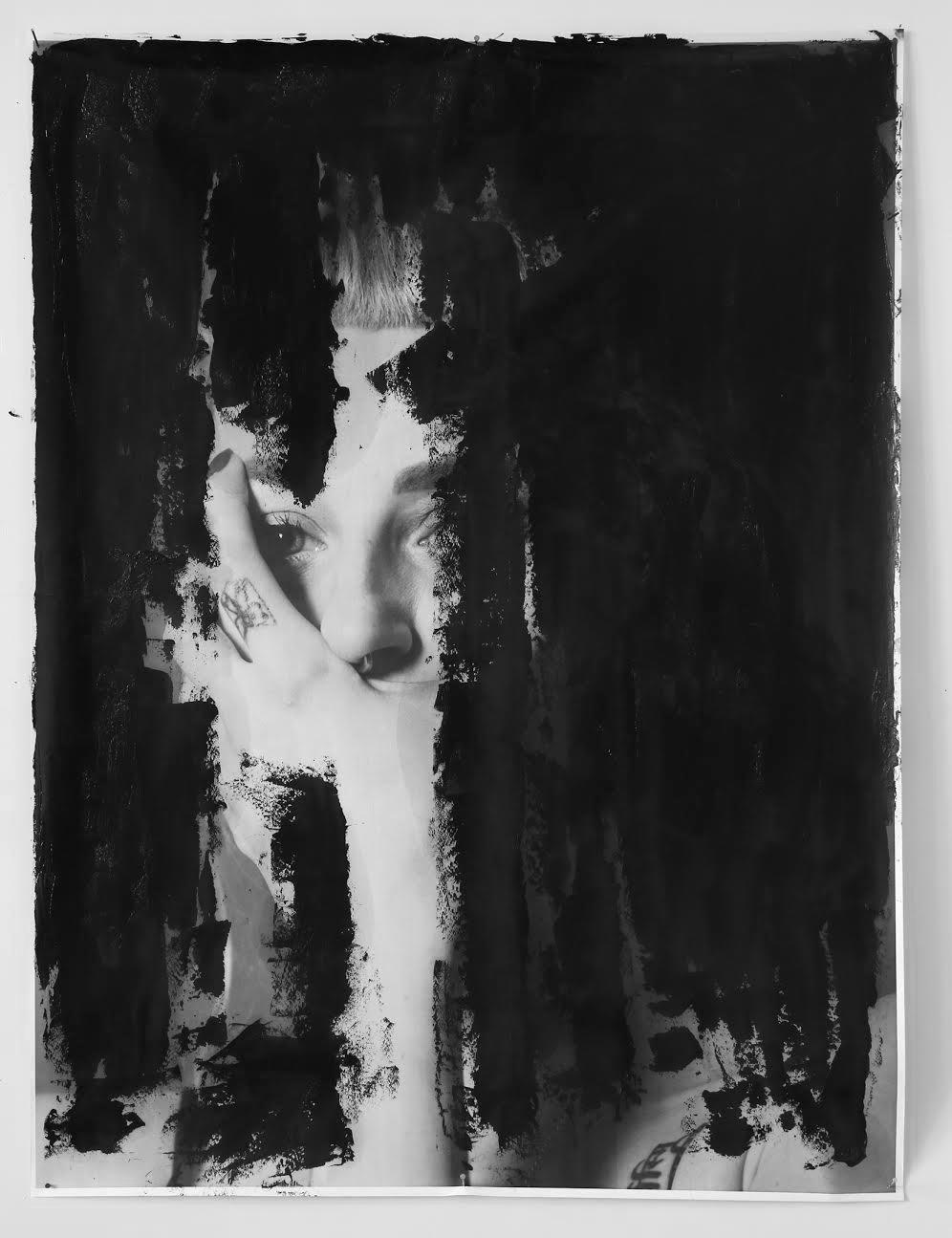 Impressions numériques sur papier d'ingénierie et peinture à l'huile - 3' x 4' - 2017