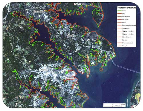 """Berman, M.R., Berquist, H., Killeen, S., Nunez, K., Rudnicky, T., Schatt, D.E., Weiss, D. and K. Reay, 2006. Anne Arundel County, Maryland - Shoreline Situation Report, Comprehensive Coastal Inventory Program, Virginia Institute of Marine"