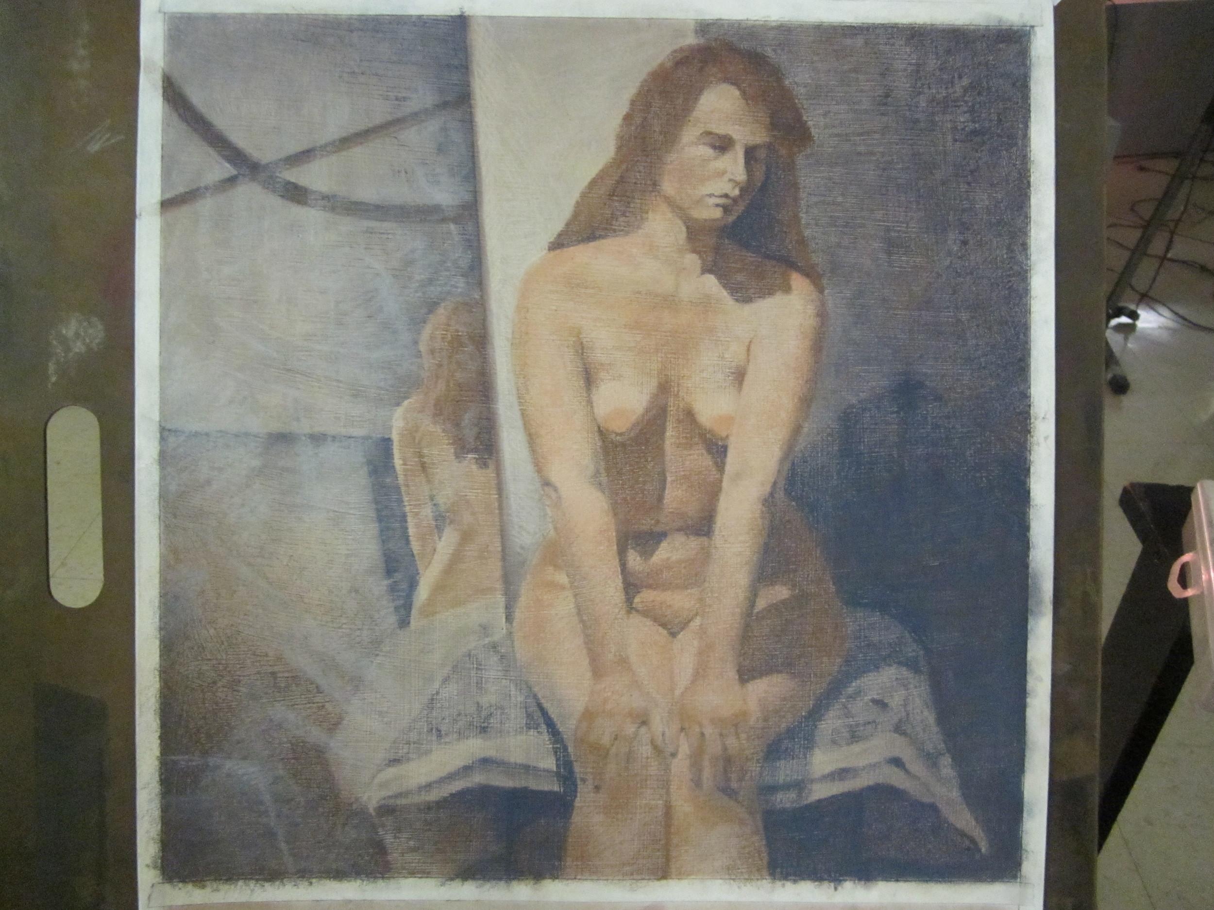 Sam. 18x18 on gessoed bristol paper