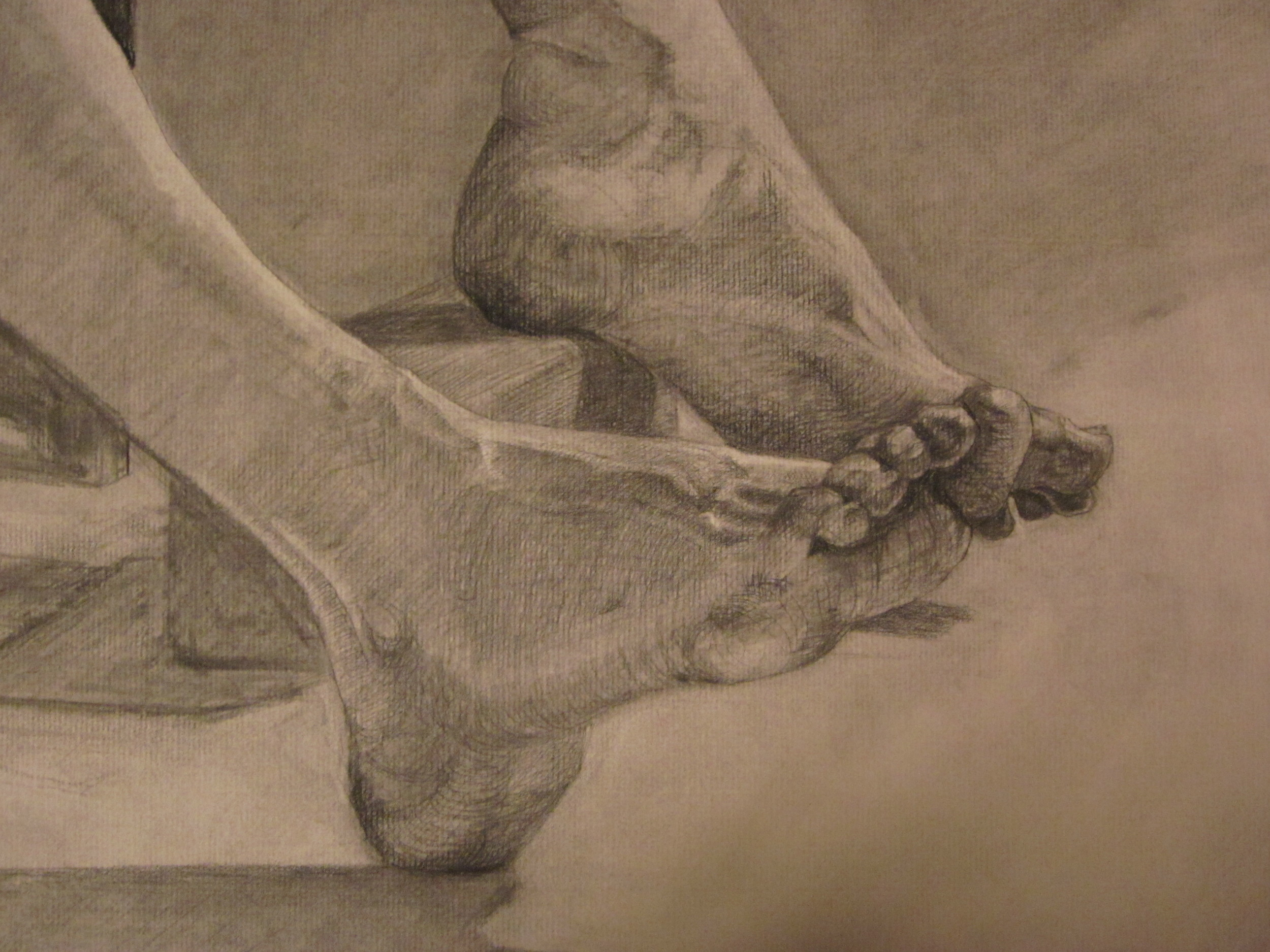 Foot Study, approximately 13x15, 2011