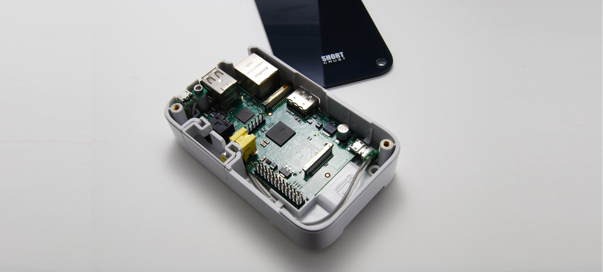 Raspberry Pi snaps easily and securely into the case, no rattling and easily removable. Internal through holes for M3 or M4 screws to mount the case to your project, and brass insert threads for attaching the cover (or anything else you might make) to the top.