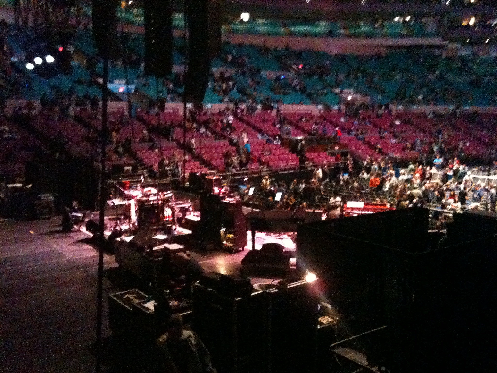 View of stage #furthur #msg