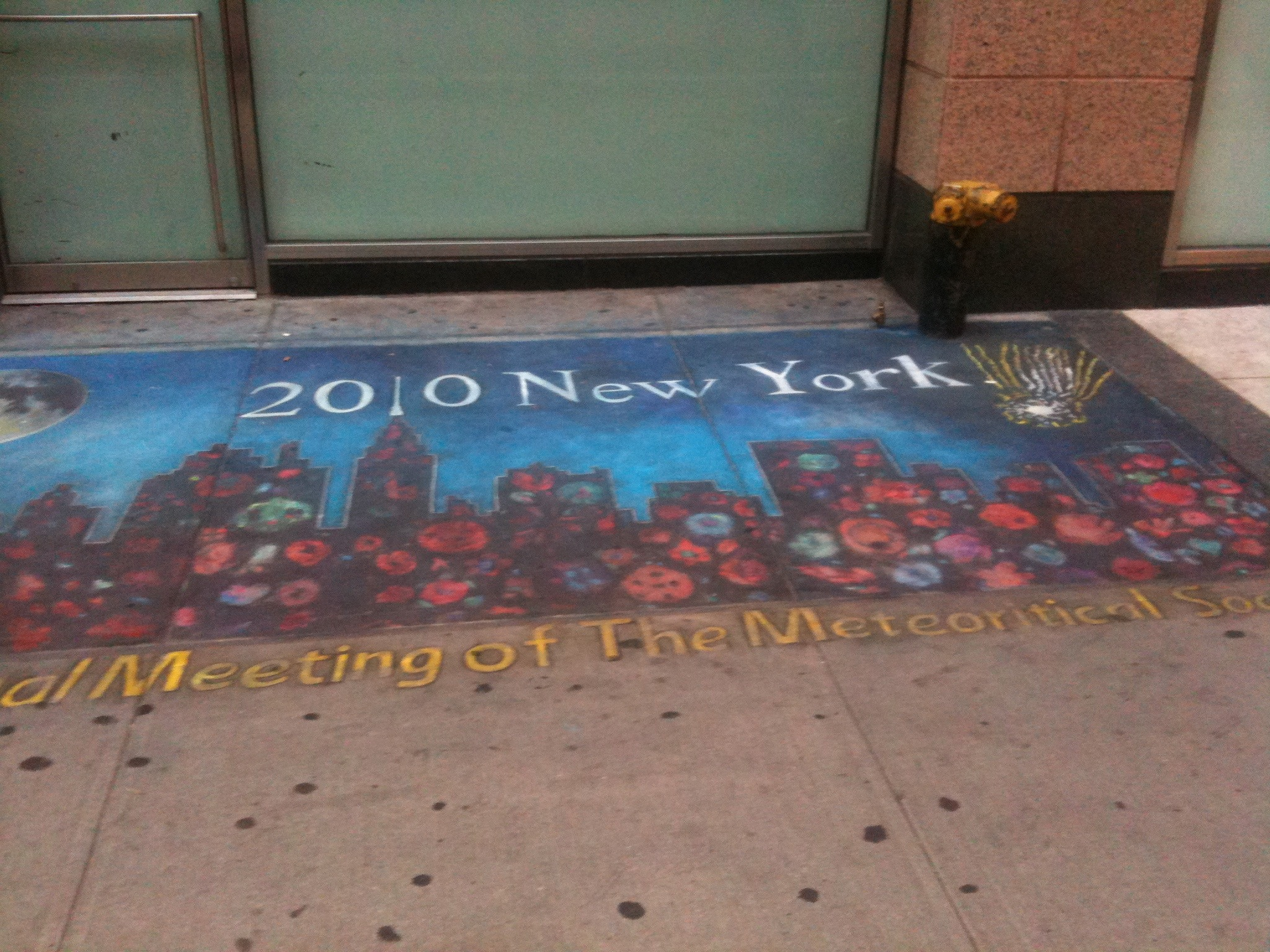 Sidewalk Illustration, NYC