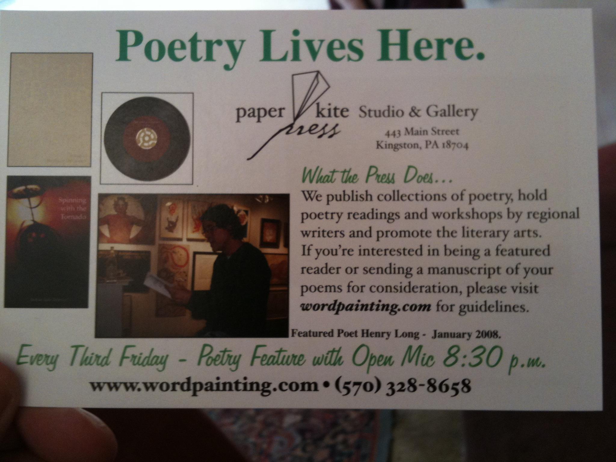 Poetry in Kingston