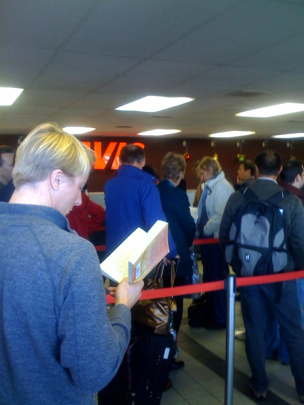 The worst part of our flight to LA was the line at Avis at LAX. Everyone in this line arrived on the same bus, and had reservations, so they shouldn't have been this surprised -- they only had a couple of desk clerks on duty (three more were added eventually).