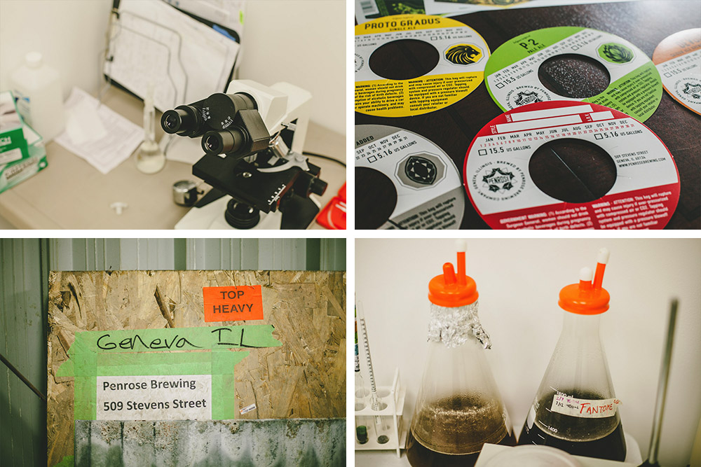 Penrose's makeshift lab will enable the team to produce wilds, sours, and brett beers from day one.