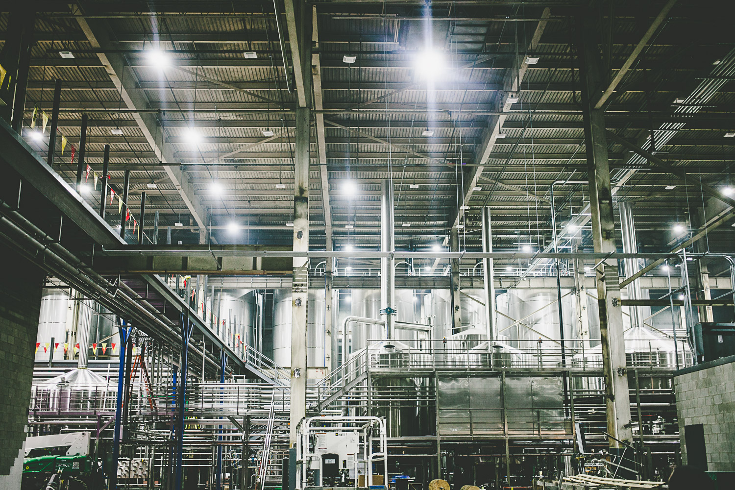 The Lagunitas Chicago brewery, which will eventually run at a 1.2MM barrel capacity, twice the capacity of its original Petaluma location.