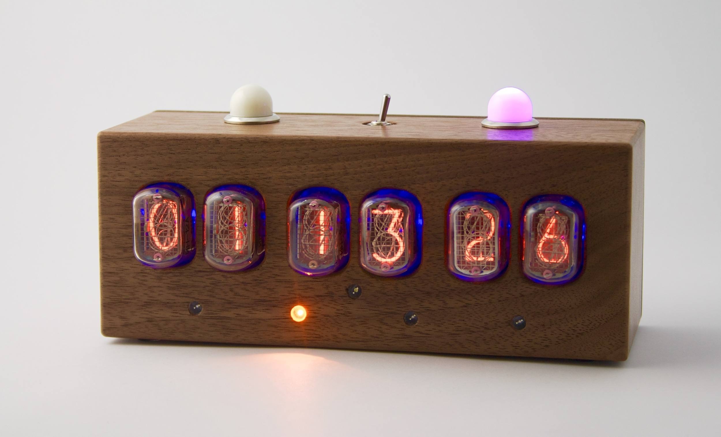 Custom A/B switch with Linear Time Code reader and Nixie Tube display.  Built on commission, April 2015.