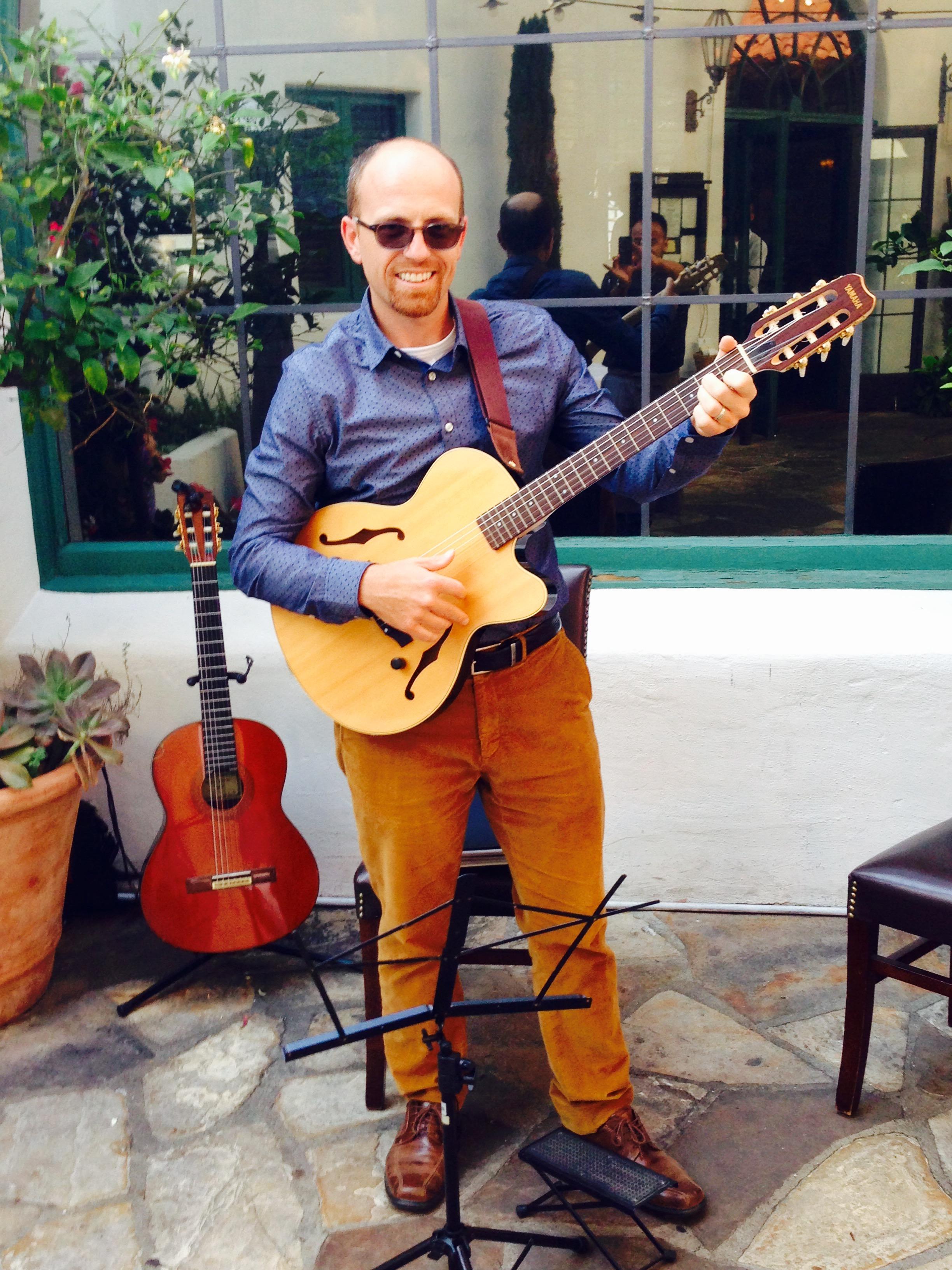 Michael Witt of Santa Barbara Guitar Collective (SBGC - duo performance) at Wine Cask Courtyard