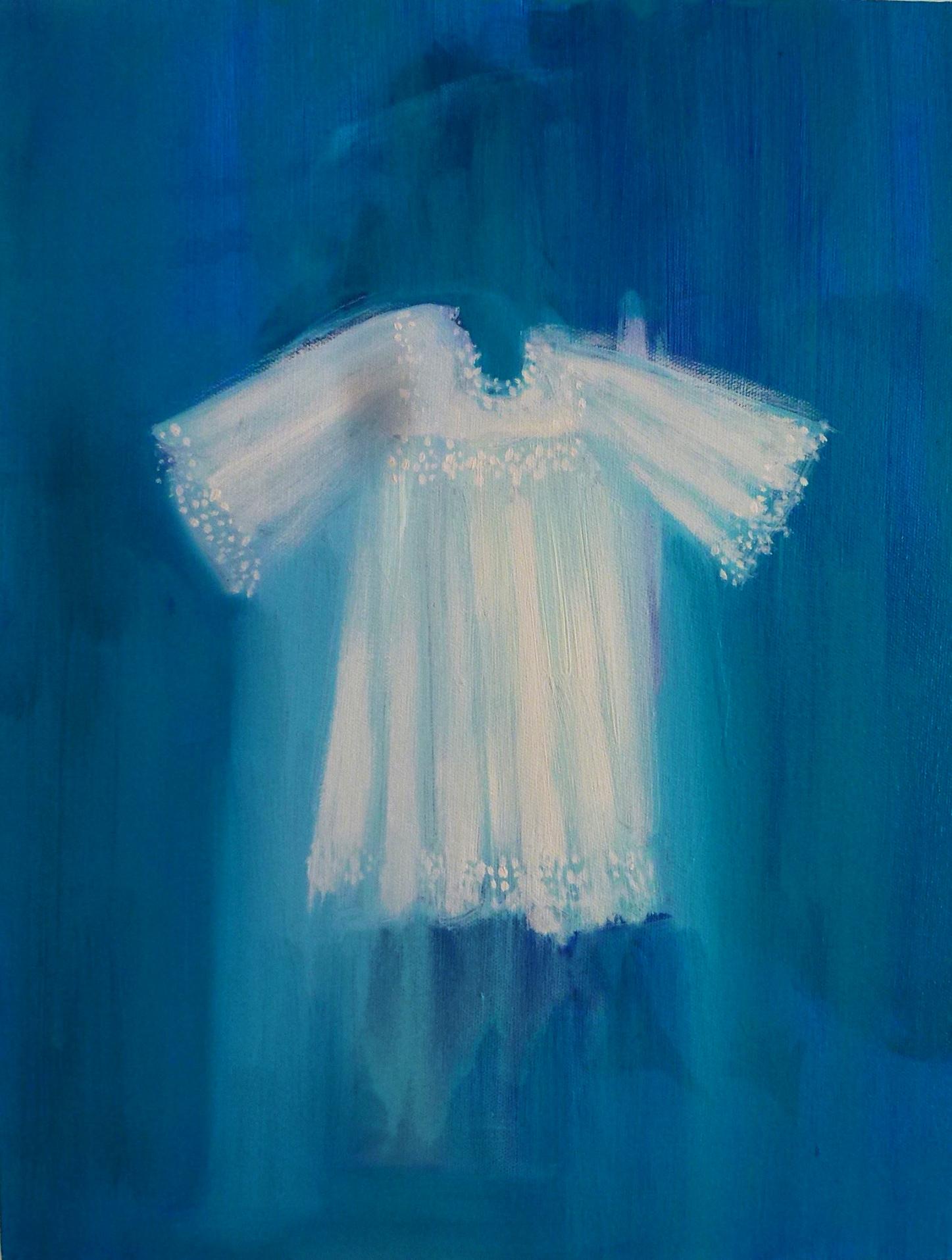 White Robe on Turquoise