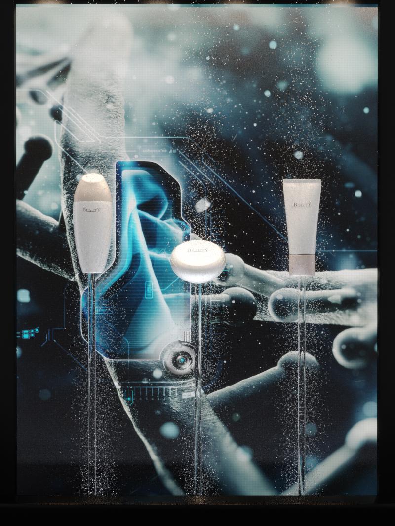 Retail, skincare premium display, VM 6