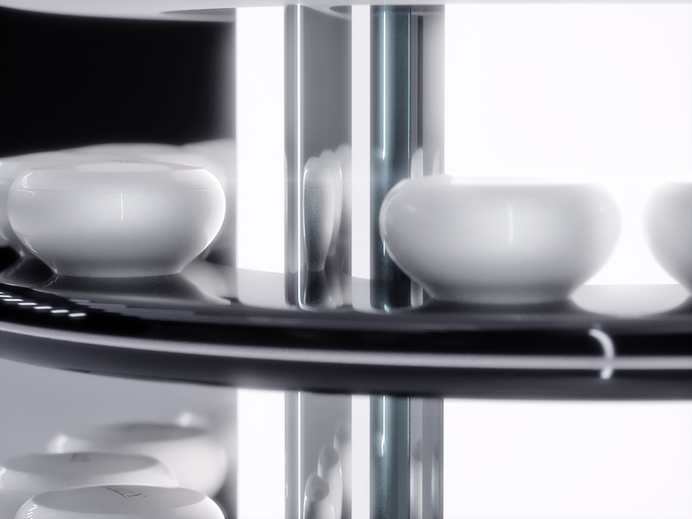 Retail, skincare premium display, VM 24