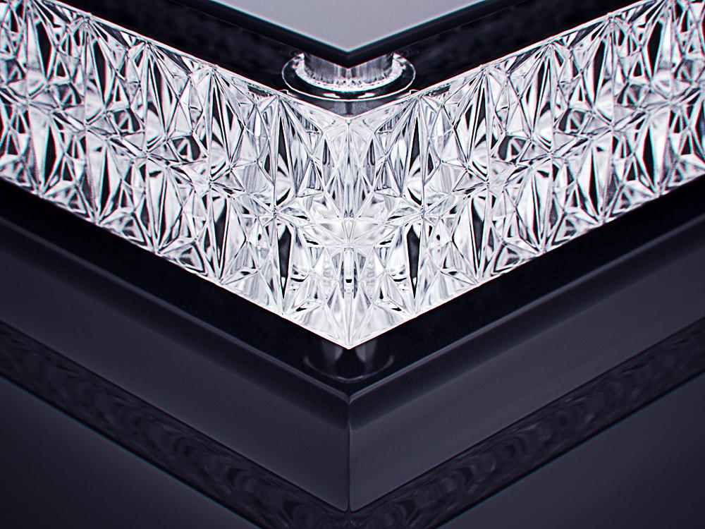 luxury crystal glass cigar ashtray 3
