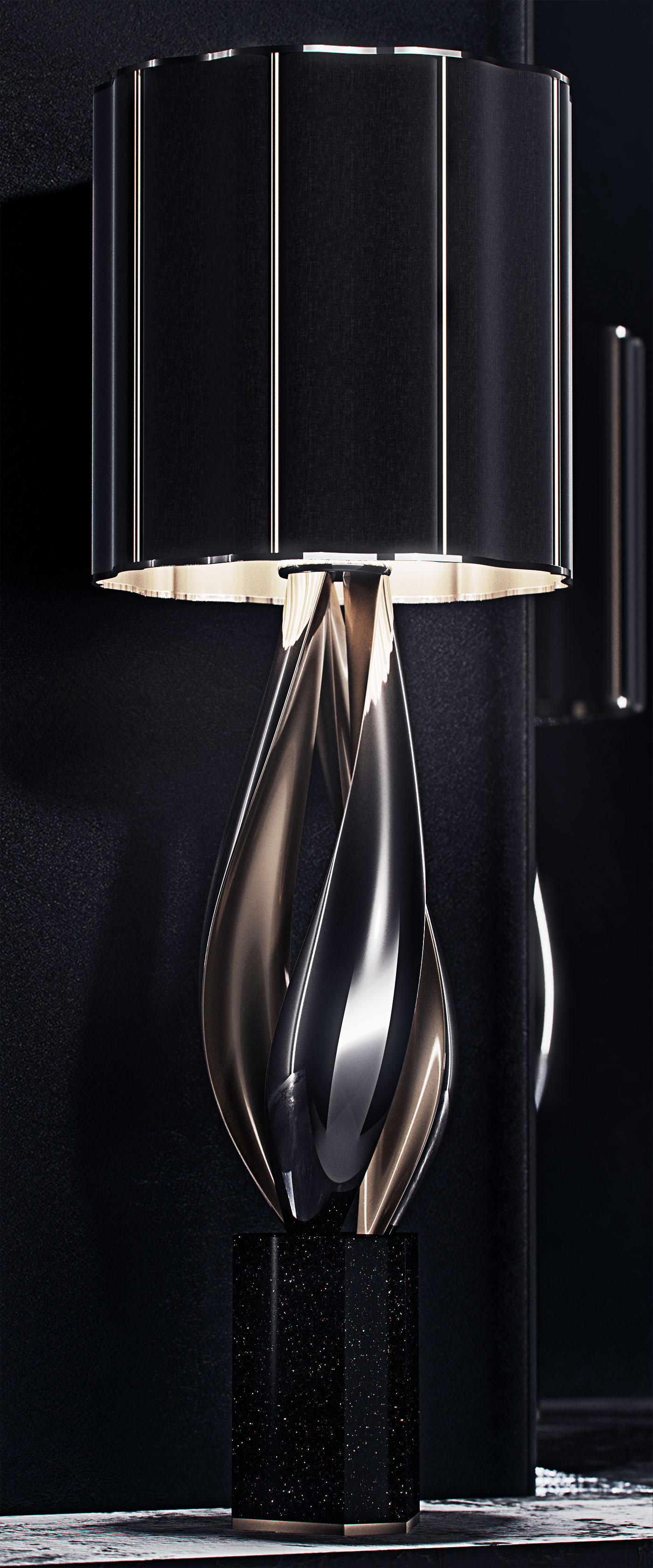 luxury lighting concept, Nightshade Lamp 2