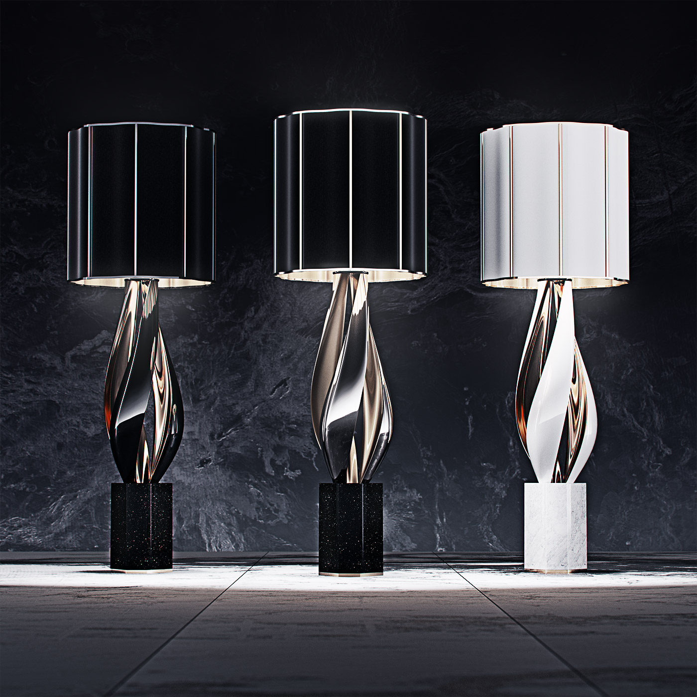 luxury lighting concept, Nightshade Lamp 4