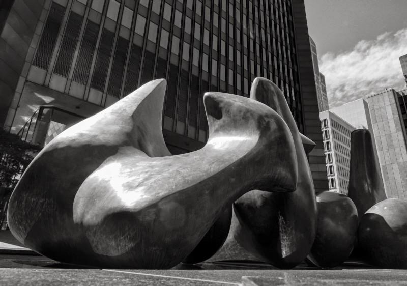 """Detail of Henry Moore's """"Vertebrae"""" in Seattle, by Stephen Cysewski"""