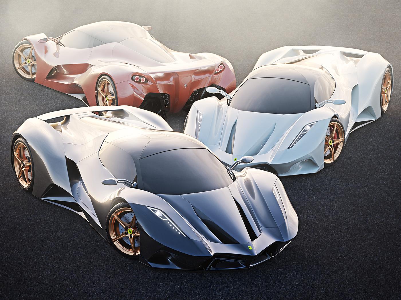 ferrari concept II, automotive design