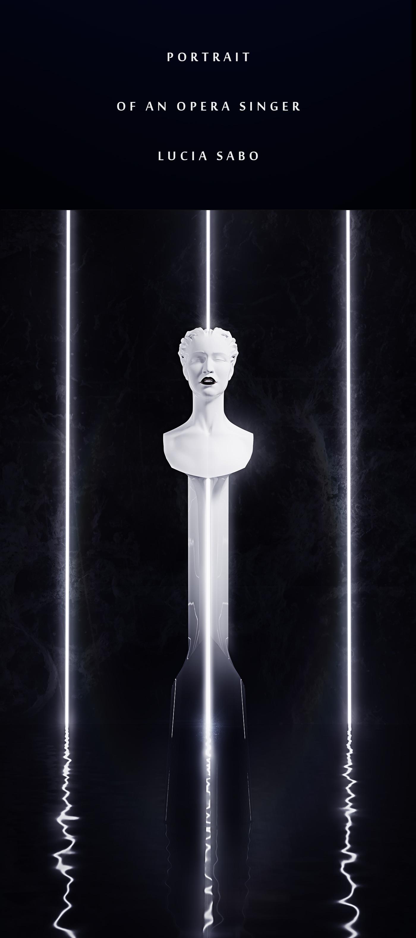 Sculpture, portrait of a Singer 1