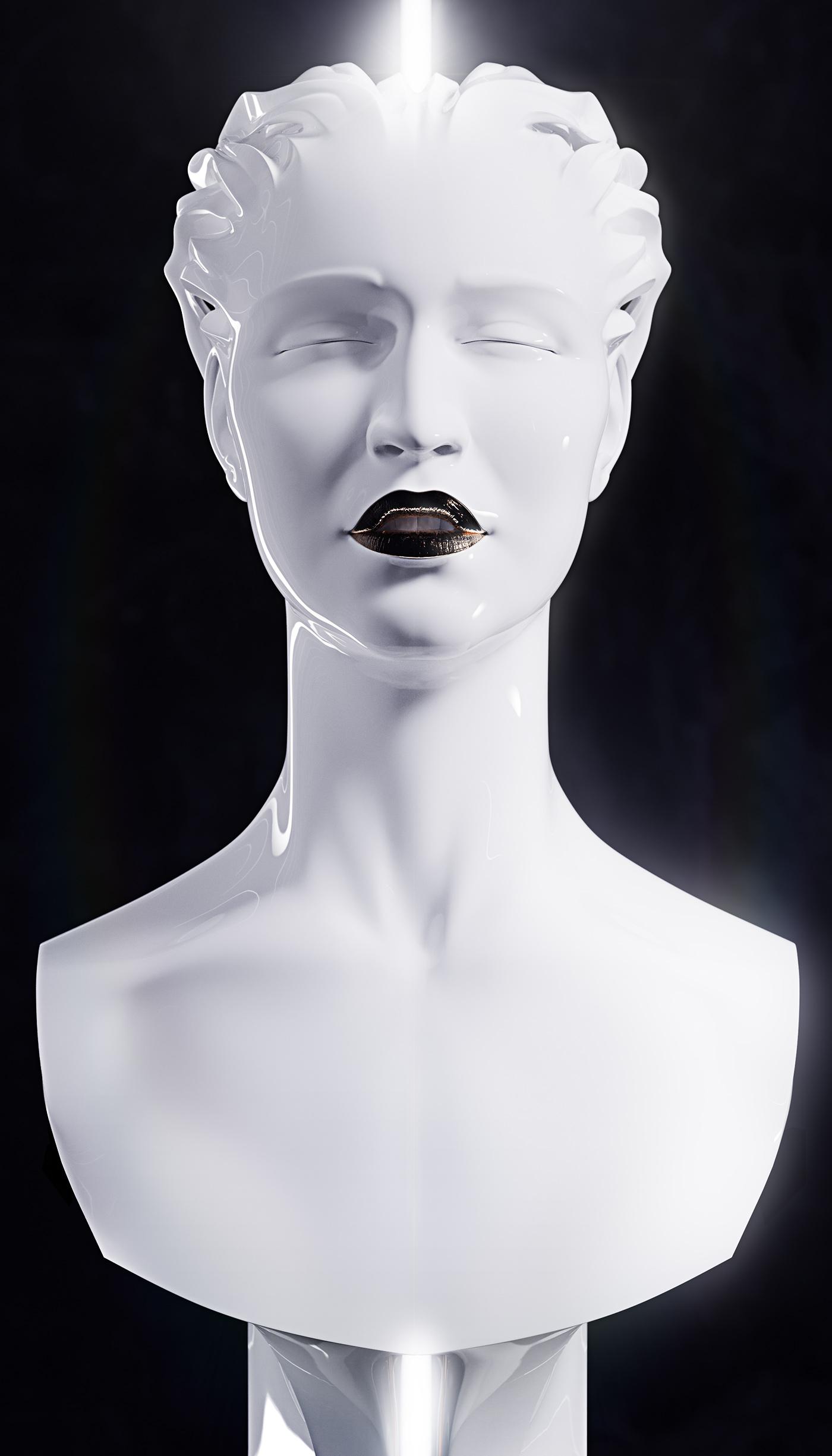 Sculpture, portrait of a Singer 2