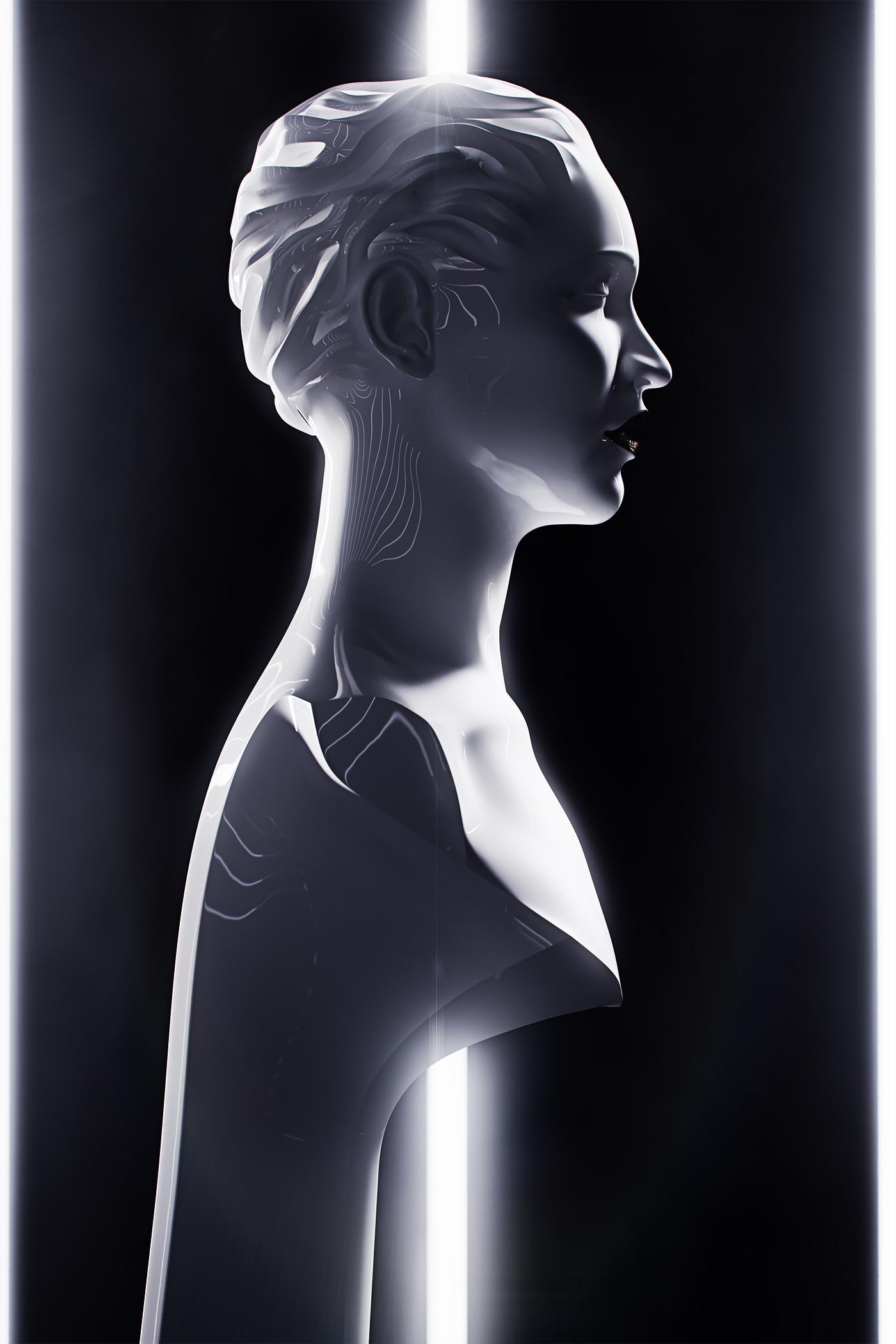 Sculpture, portrait of a Singer 3
