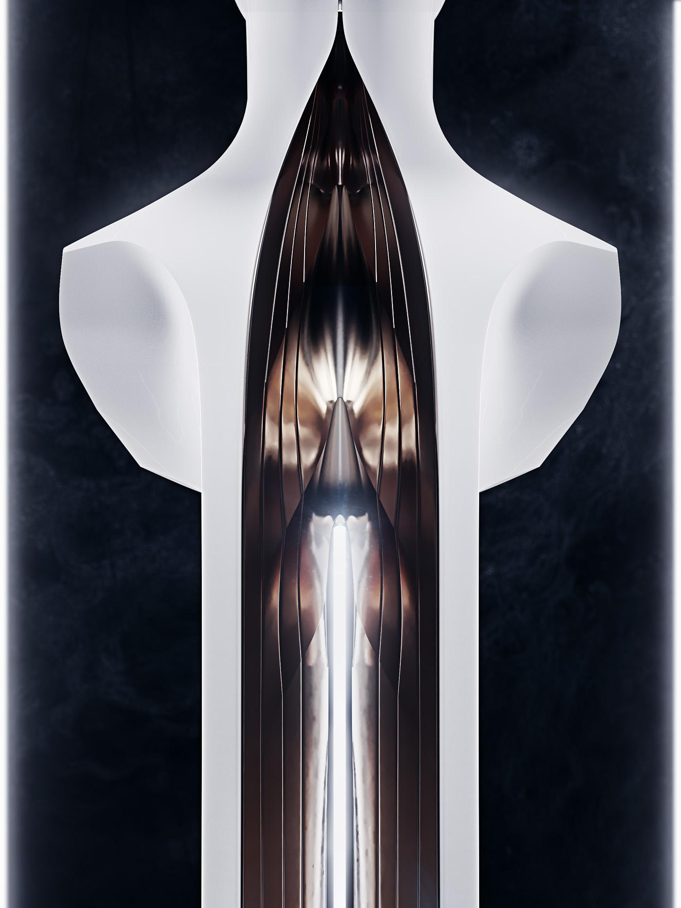 Sculpture, portrait of a Singer 5