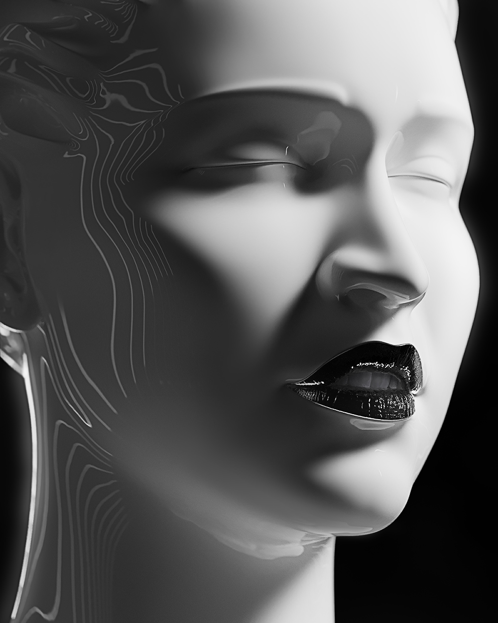 Sculpture, portrait of a Singer 7