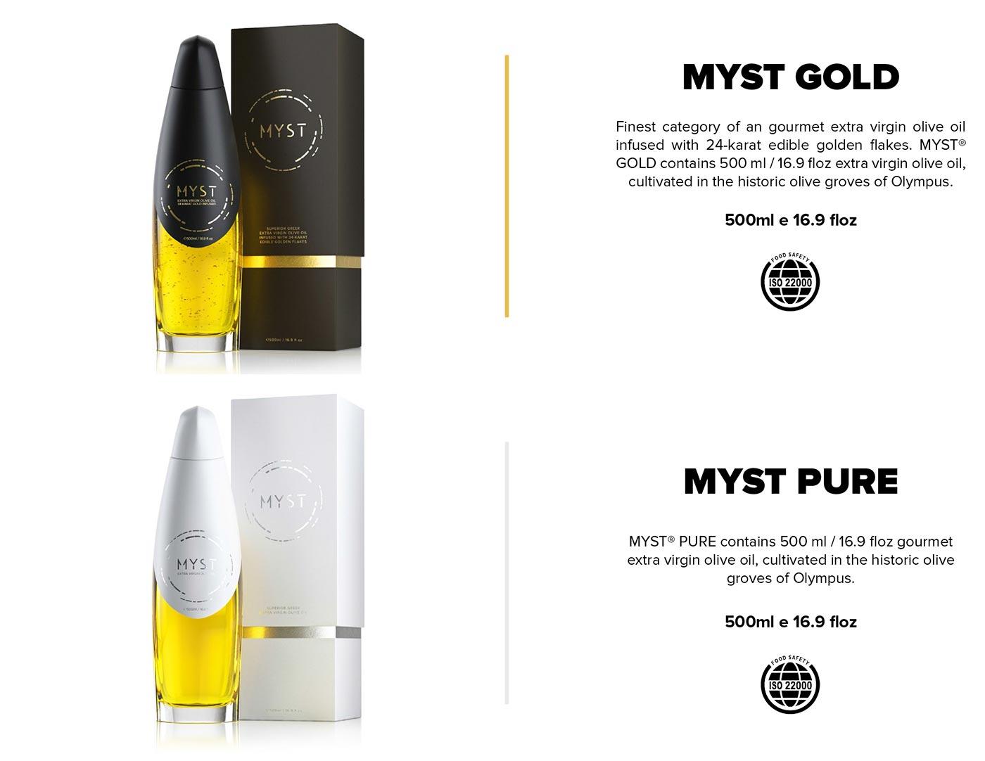 Myst, ultra premium olive oil bottle packaging 5