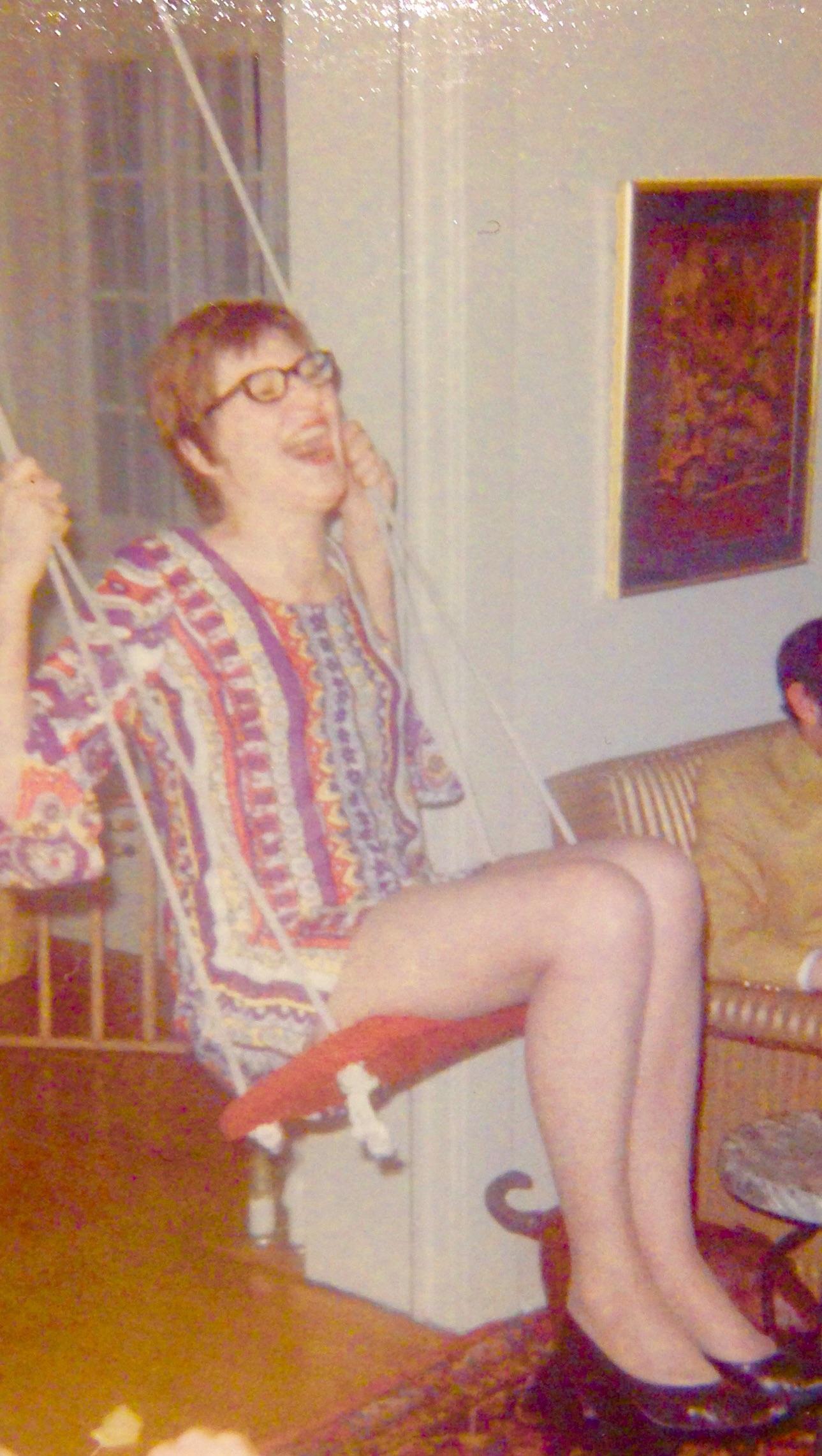 Mother, minidress, swing, 1969?