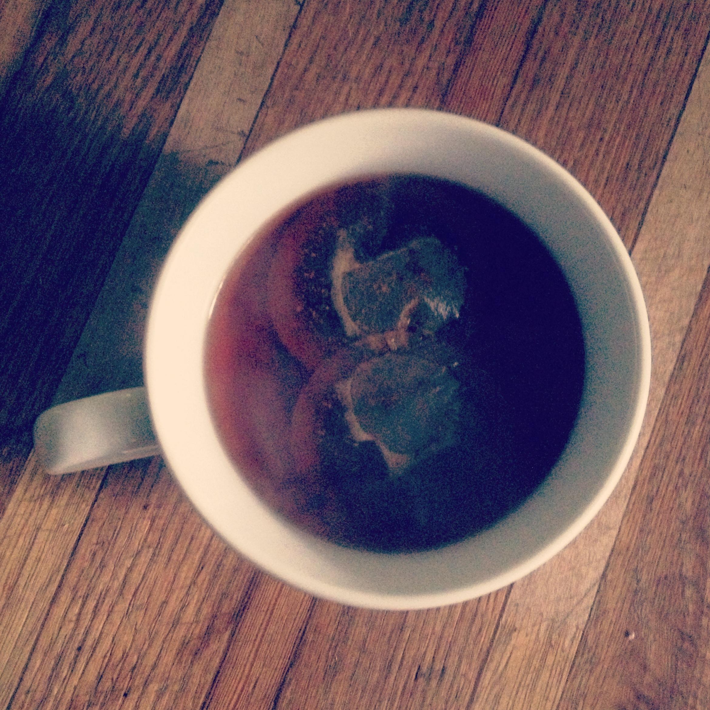 Red Velvet tea on a rainy day.