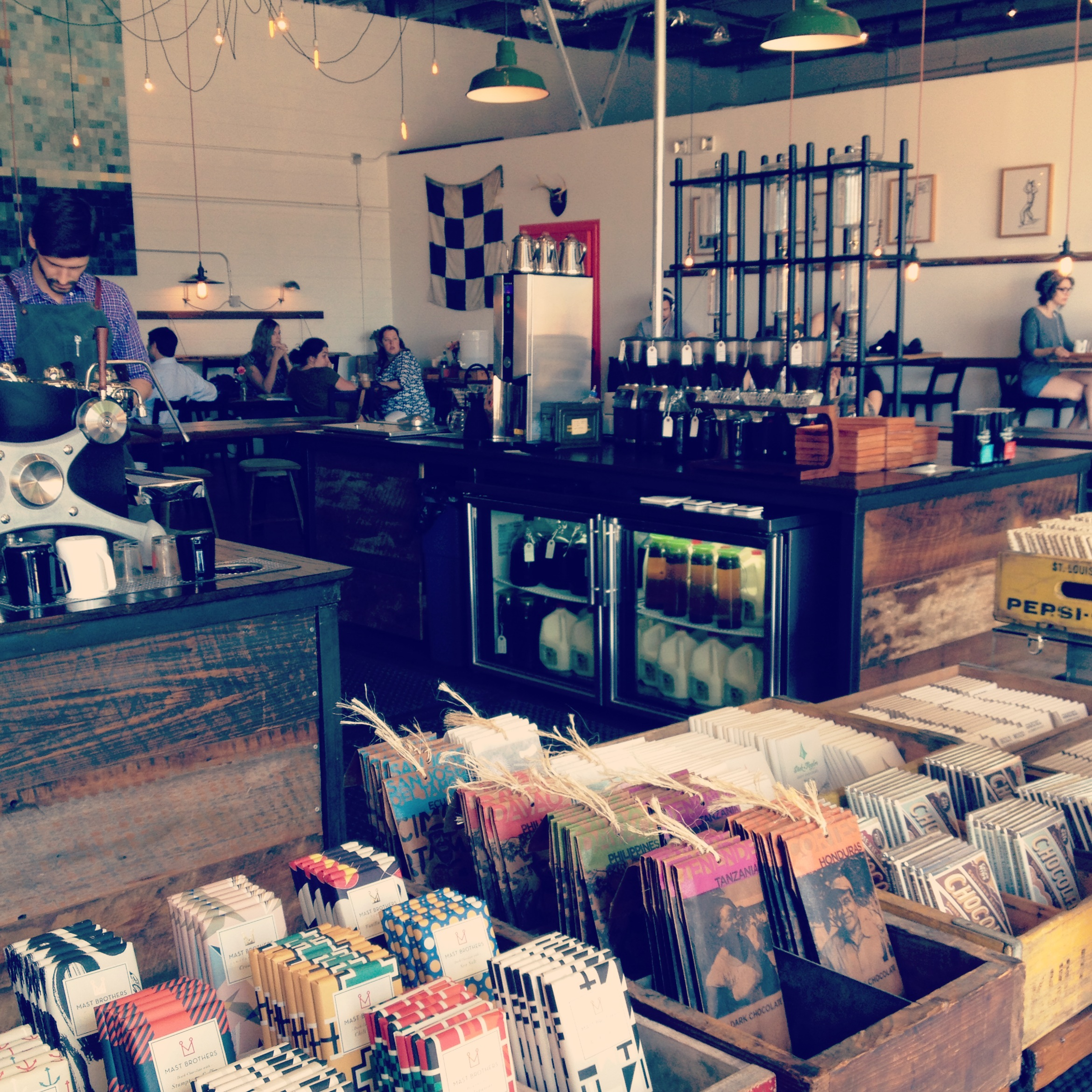 The newly opened Barista Parlor. Love at first sight.