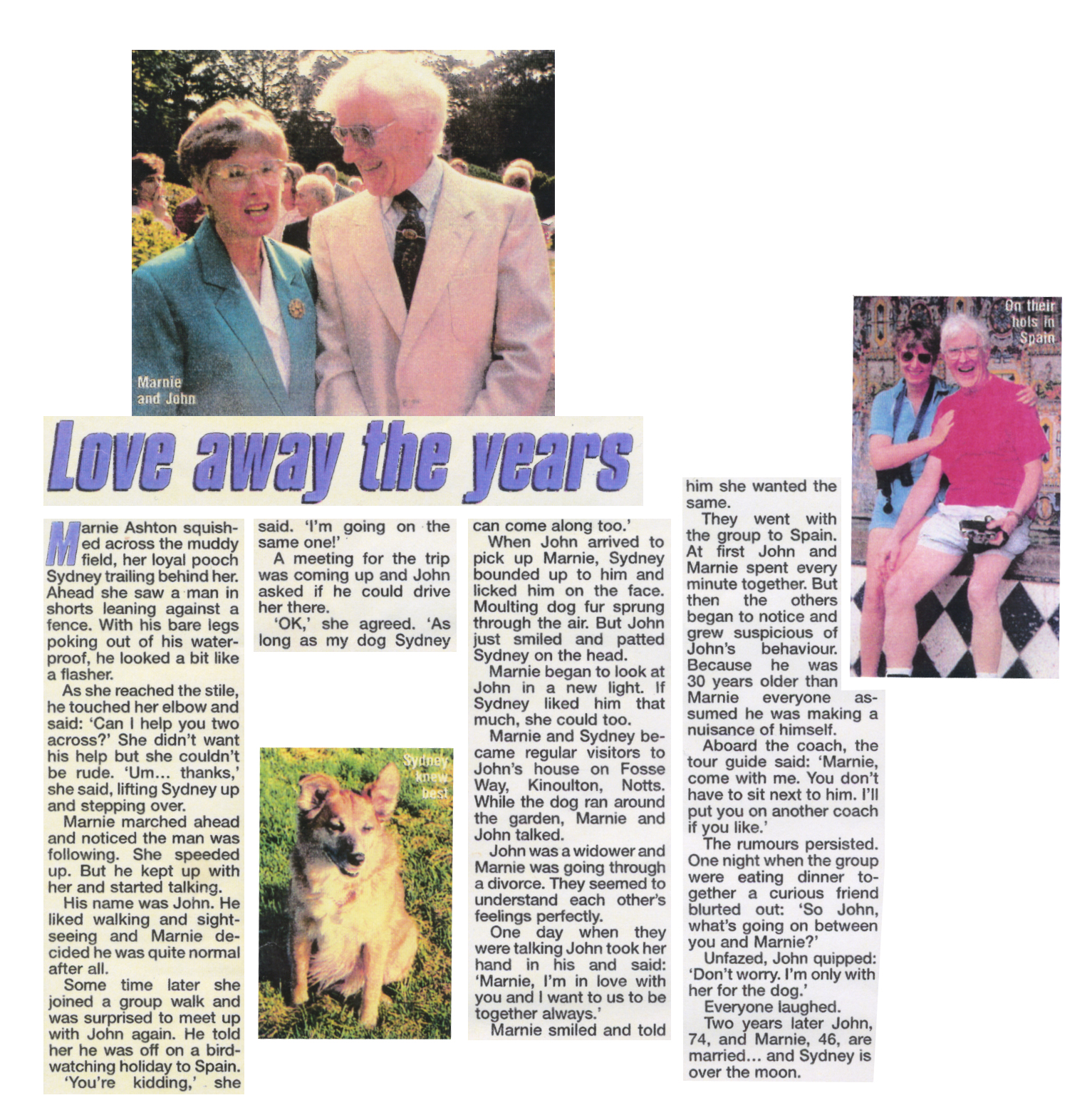 Loving away the years.   Marnie and John